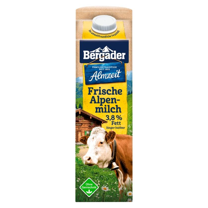 Bergader Frische Alpenmilch 3,8% Fett 1l