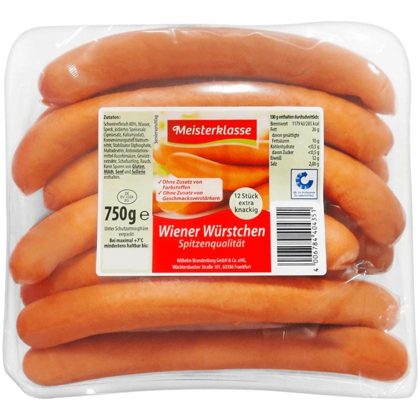 Meisterklasse Wiener Würstchen 750g
