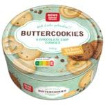 REWE Beste Wahl Danish Buttercookies & Chocolate Chip Cookies 500g