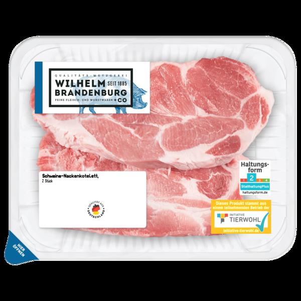 Wilhelm Brandenburg Schweine-Nackenkotelett ca. 360g, 2 Stück