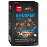 REWE Beste Wahl Knuspermüsli Triple Choc 500g