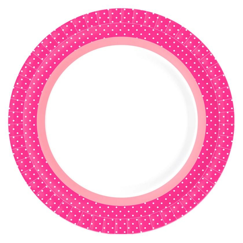 Duni Teller Brook Pink 22cm 10 Stück