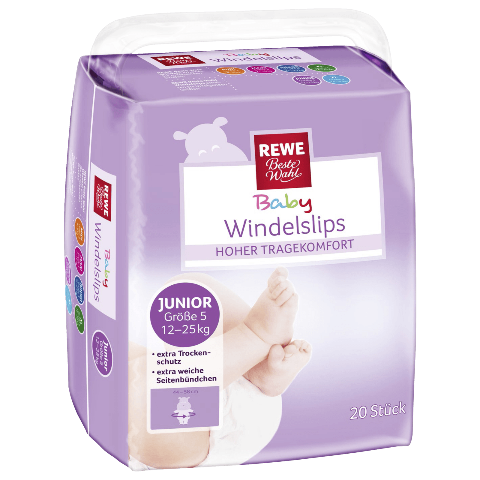 REWE Beste Wahl Windelslips Junior Gr. 5 12-25kg 20 Stück