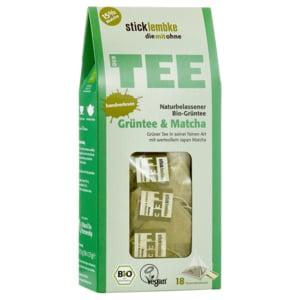 Stick & Lembke Bio-Tee Grüntee & Matcha 31,5g, 18 Beutel