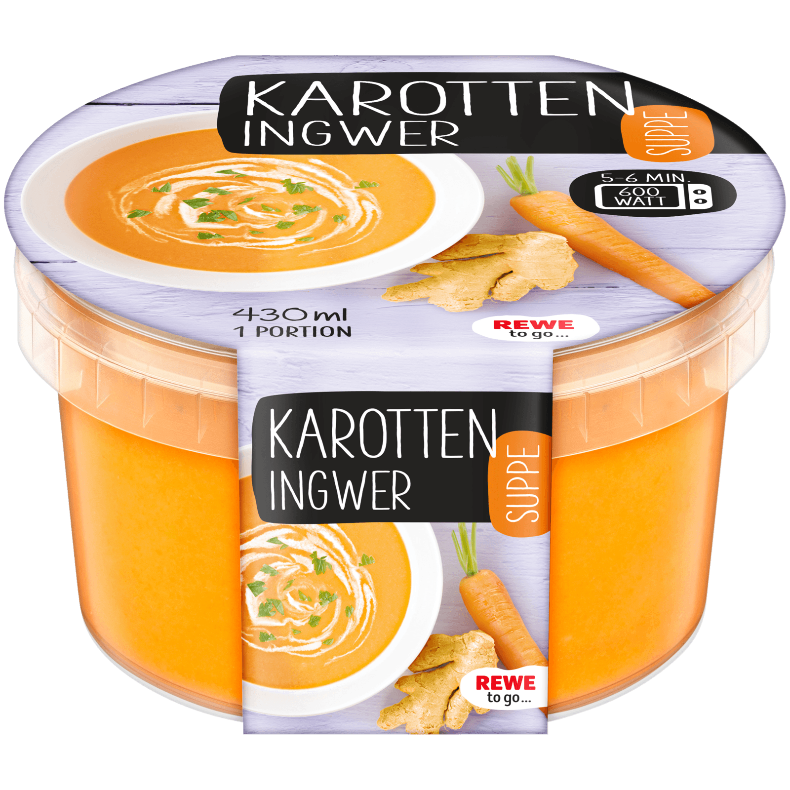 REWE to go Karotten-Ingwer-Suppe 430ml