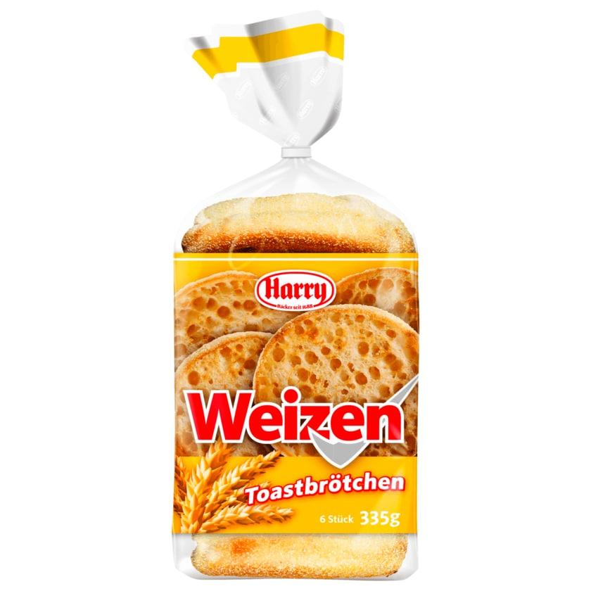 Harry Weizen Toastbrötchen 335g, 6 Stück