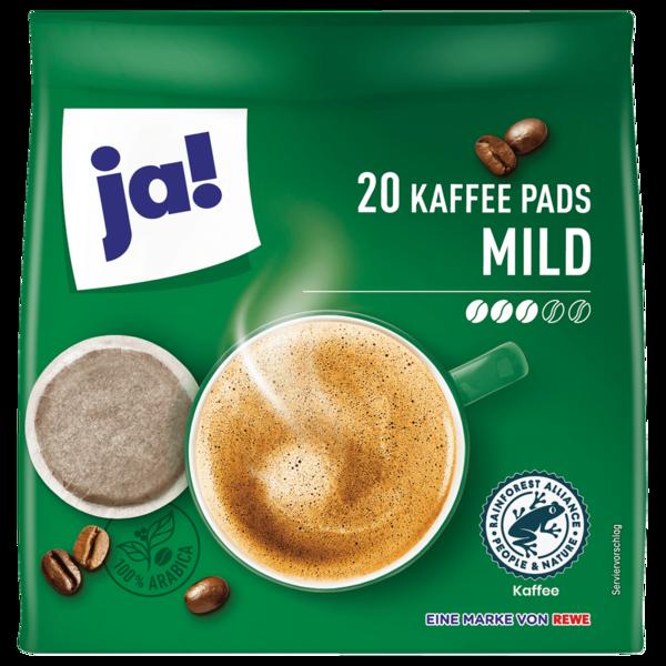 ja! Milde Kaffee-Pads 144g, 20 Pads