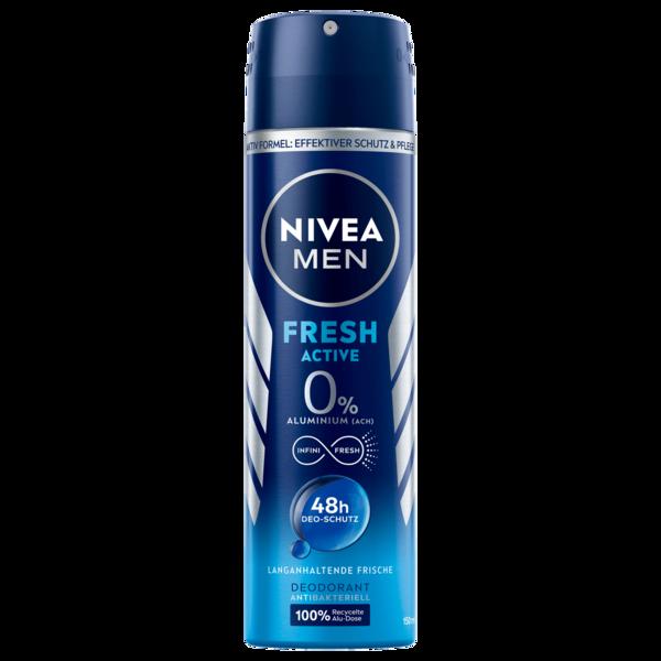 Nivea Men Deospray Fresh Active Spray 72h ohne Aluminium 150ml