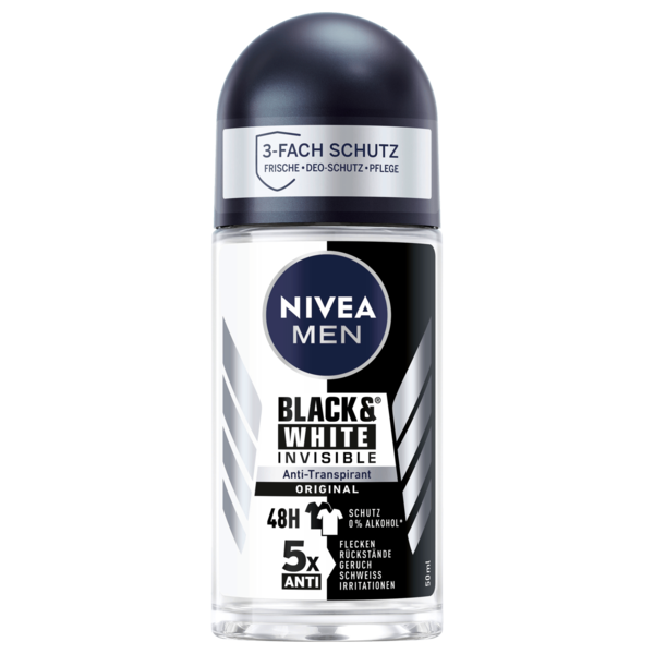 Nivea Men Deo Roll-on Invisible For Black und White Antitranspirant 50ml