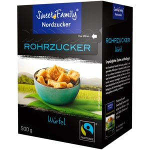 Sweet Family Brauner Würfelzucker Fairtrade 500g