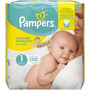 Pampers Premium Protection Gr. 1 New Baby 2-5kg 22 Stück
