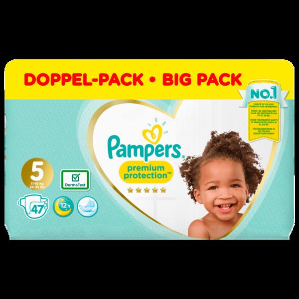Pampers Premium Protection Windeln Gr.5 Junior 11-16kg Jumbopack 47 Stück