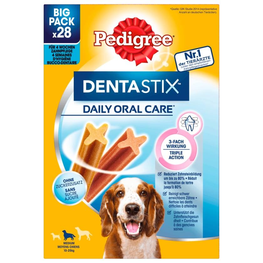 Pedigree Hundesnack Dentastix tägliche Zahnpflege für mittlere Hunde 28 Stück