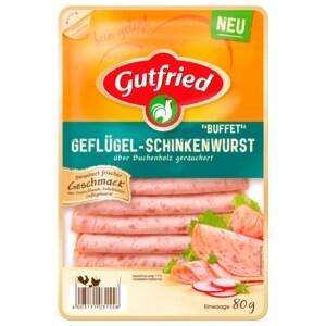 """Gutfried Geflügel-Schinkenwurst """"Buffet"""" 80g"""