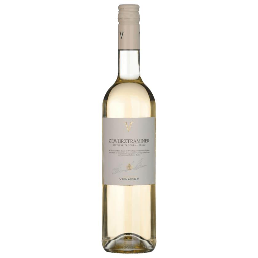 Vollmer Weißwein Gewürztraminer Spätlese trocken 0,75l