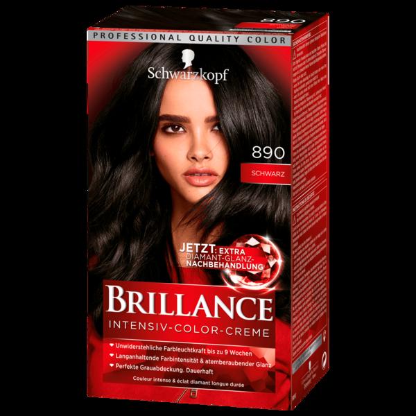 Schwarzkopf Brillance Intensiv-Color-Creme 890 schwarz 143ml