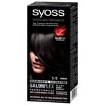 Syoss Salonplex Permanente Coloration 1-1 Schwarz 1 Stück