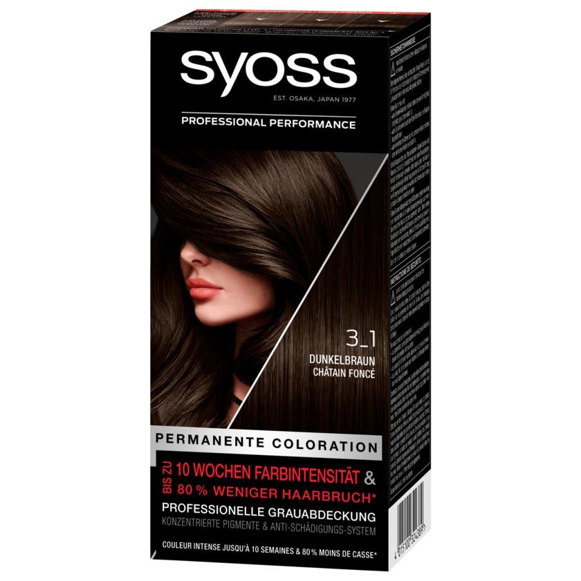 Syoss Permanente Coloration 3-1 Dunkelbraun 1 Stück