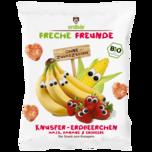 Erdbär Freche Freunde Knusper-Erdbeerchen Mais, Banane & Erdbeere 25g