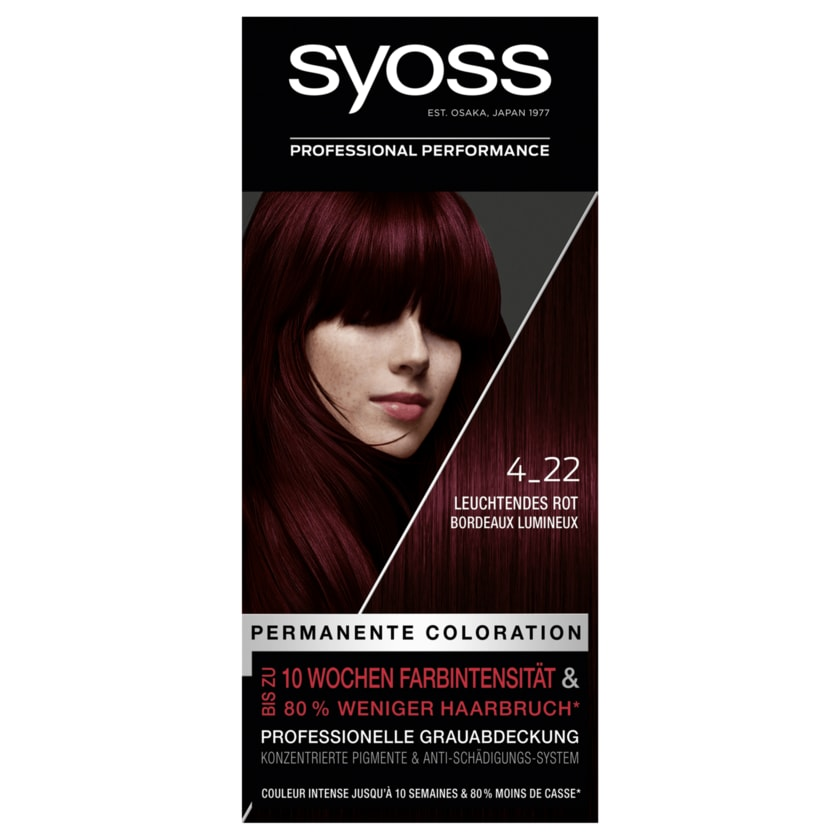 Syoss Permanente Coloration 4-22 Leuchtendes Rot 1 Stück