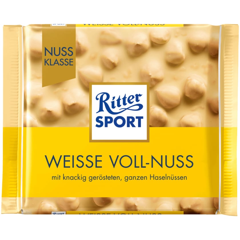 Ritter Sport Schokolade Nuss-Klasse Weiße Voll-Nuss 100g