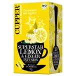 Cupper Bio Zitronentee mit Ingwer 50g, 20 Beutel