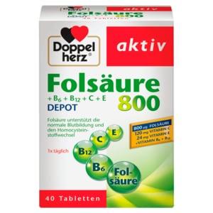 Doppelherz Folsäure 800 Depot 40 Stück