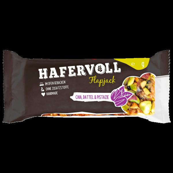 Hafervoll Flapjack Chia, Dattel & Pistazie 65g