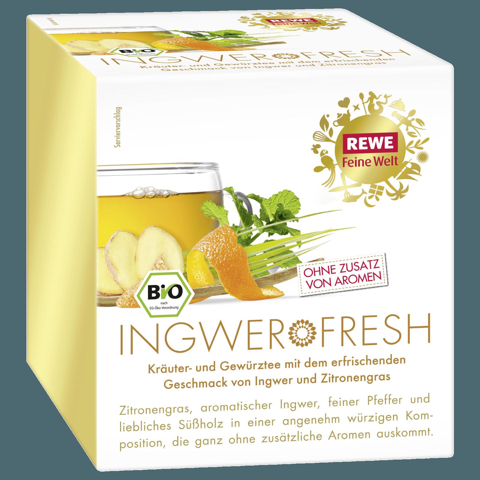 Rewe Feine Welt Gewurztee Ingwer Fresh 45g Bei Rewe Online Bestellen