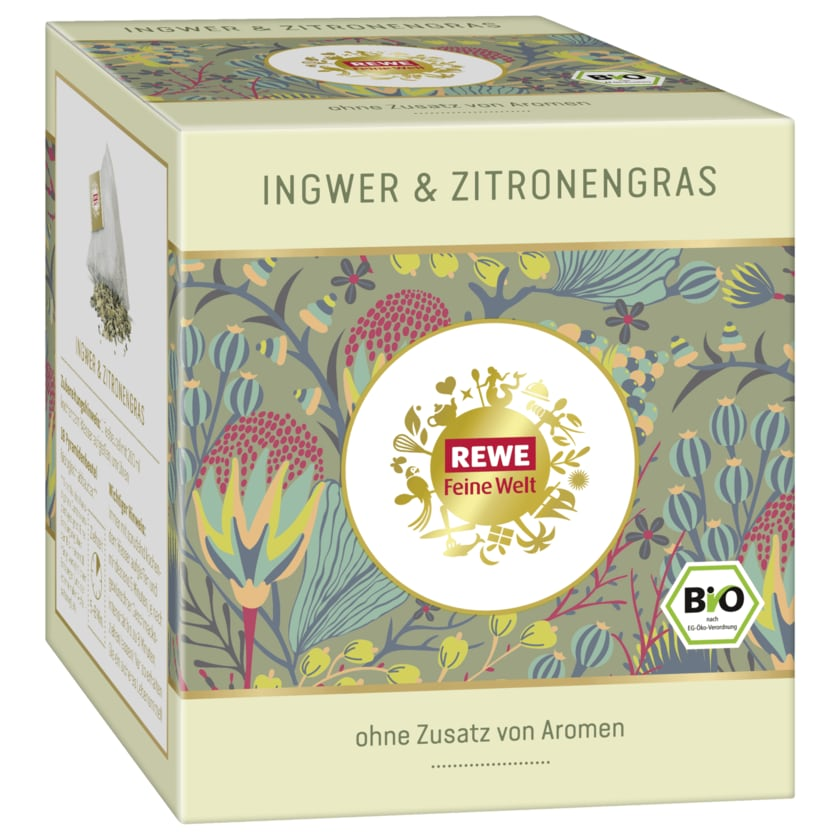 REWE Feine Welt Gewürztee Ingwer & Zitronengras 45g