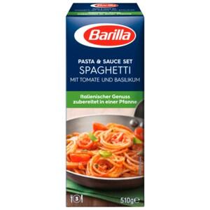 Barilla Koch-Set Spaghetti mit Tomate und Basilikum 510g