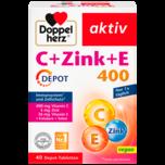 Doppelherz Aktiv C+Zink+E 400 Depot 40 Stück