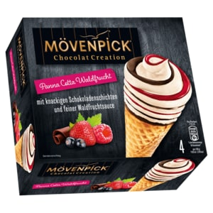 Mövenpick Eis Chocolat Creation Panna Cotta Waldfrucht 4x110 ml