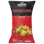 Henderson and Sons Tortilla Chips Hot Chili Taste 450g