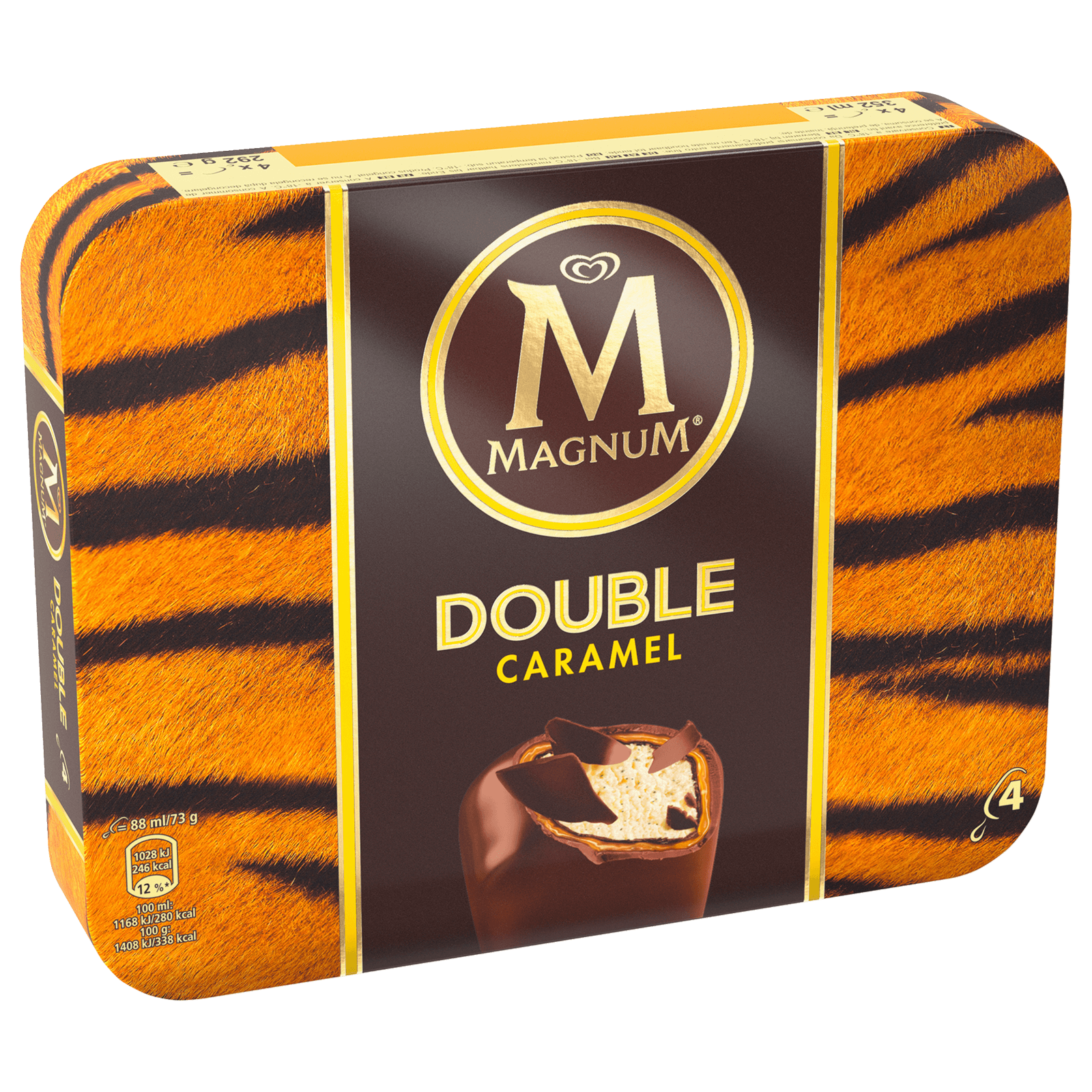 Magnum Double Caramel Familienpackung Eis 4x88ml Bei Rewe Online