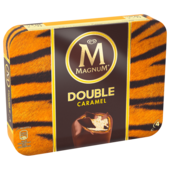Magnum Double Caramel Familienpackung Eis 4x88ml
