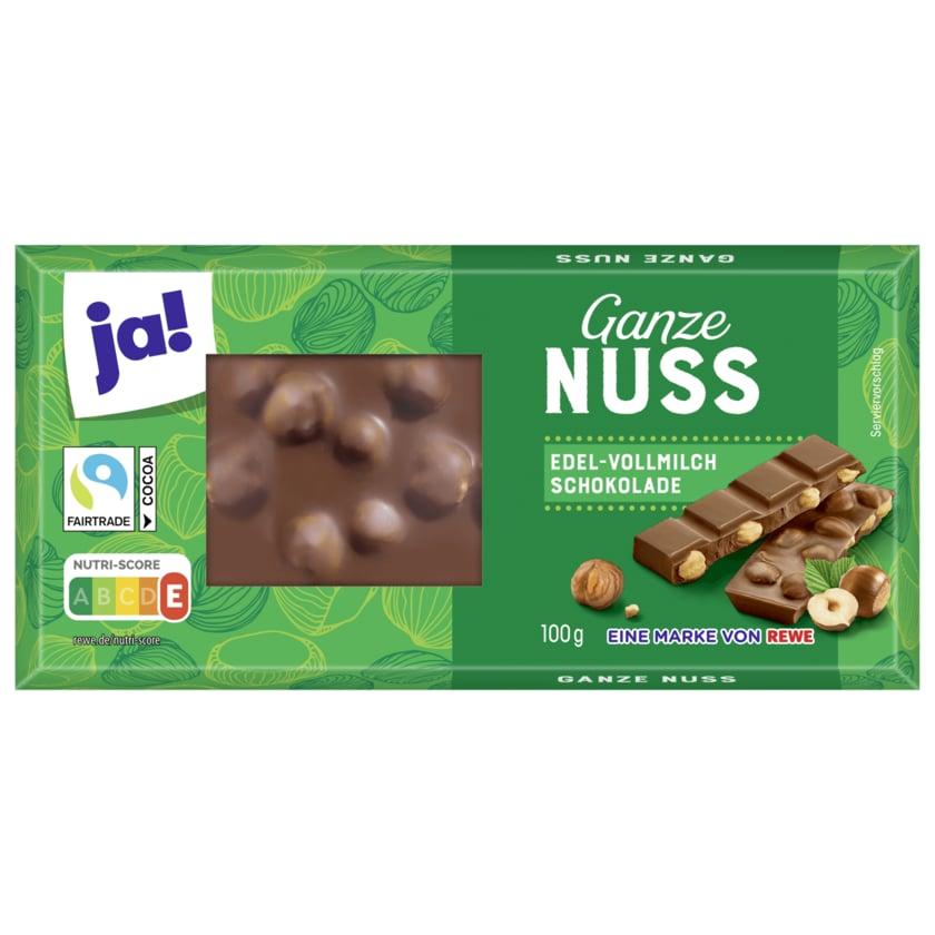 ja! Schokolade Ganze Nuss 100g