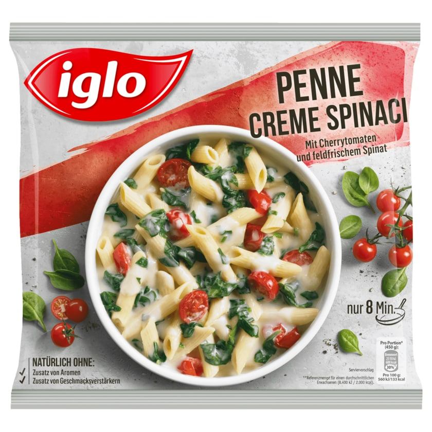 Iglo Penne Creme Spinaci 450g