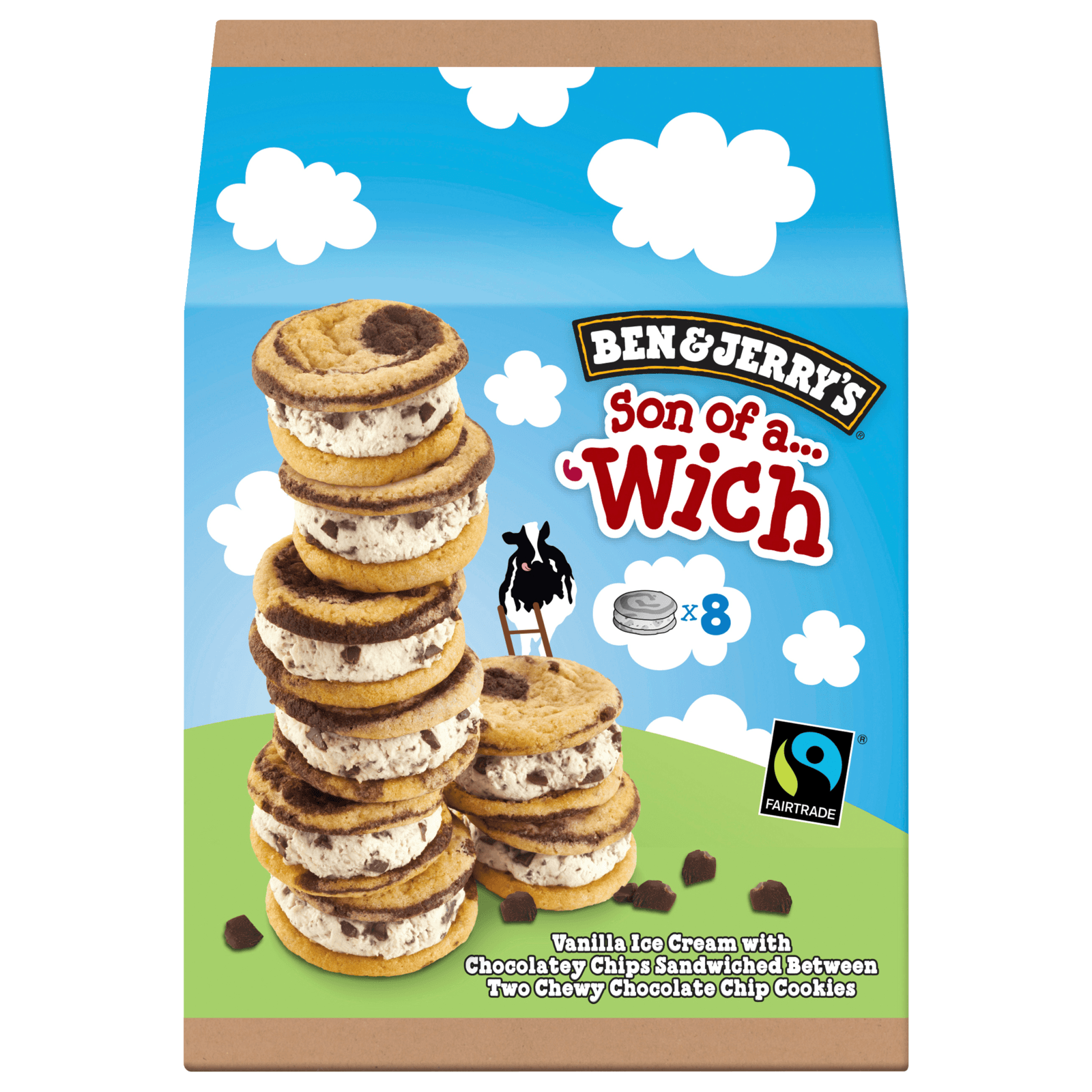 Ben & Jerry's Son of a Wich Familienpackung Eis 8x30ml