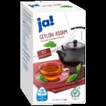 ja! Ceylon-Assam Schwarzer Tee 87,5g, 50 Beutel