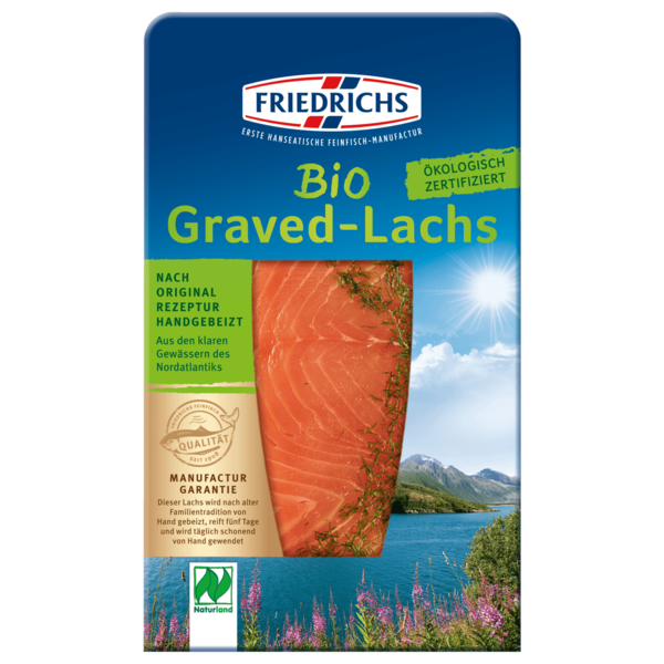 Friedrichs Bio Graved-Lachs 100g
