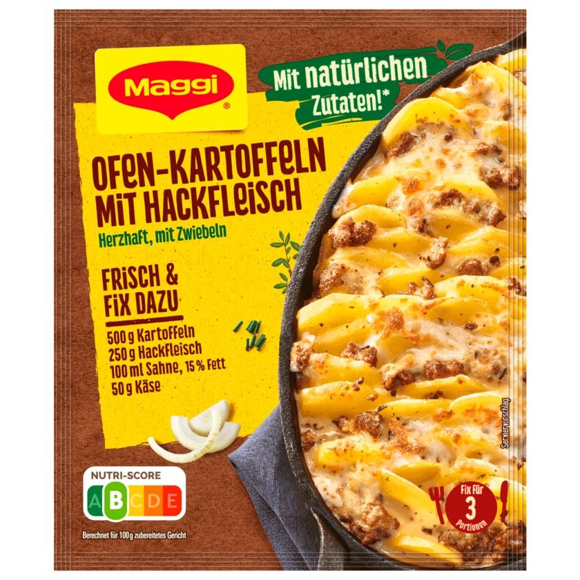 Maggi Fix für Ofen-Kartoffeln mit Hackfleisch