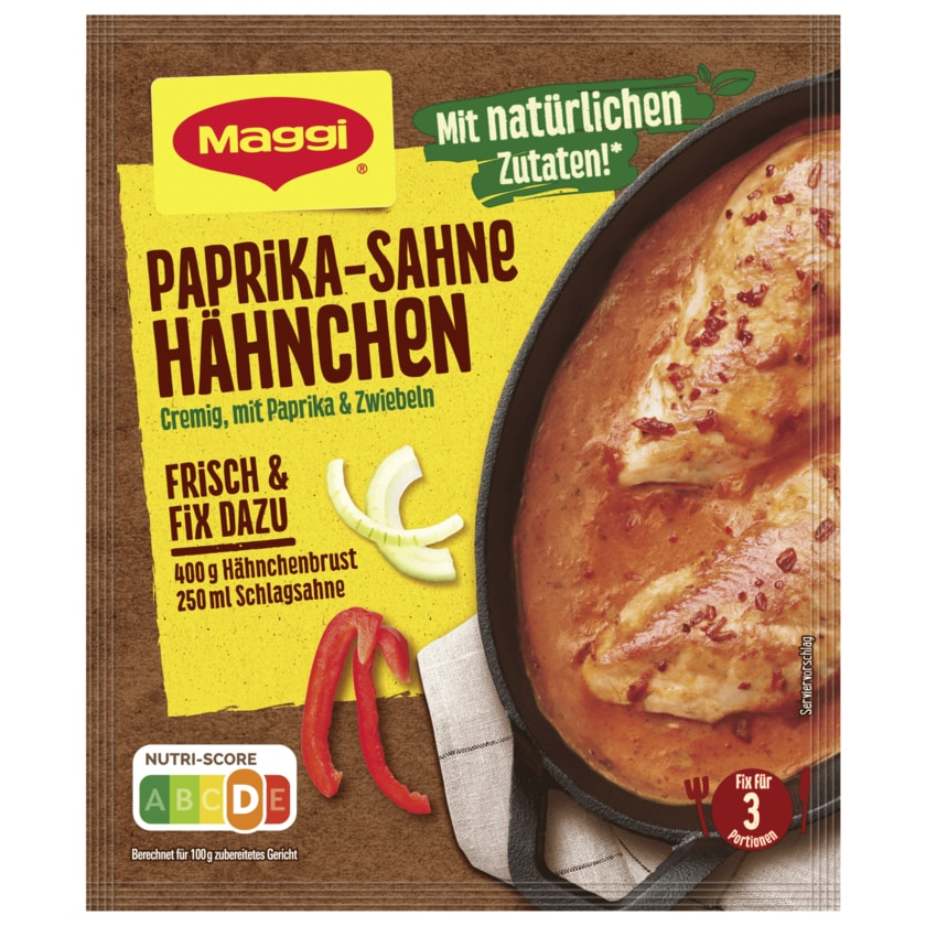 Maggi Fix für Paprika-Sahne Hähnchen 33g