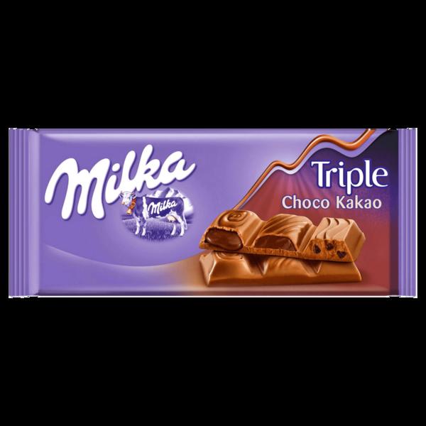 Milka Tafel Triple Chocolate 90g