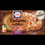 Original Wagner Rustipani dunkles Ofenbrot Elsässer Art Räucherschinken auf Crème-Fraîche-Soße Brotspezialität tiefgefroren 185g