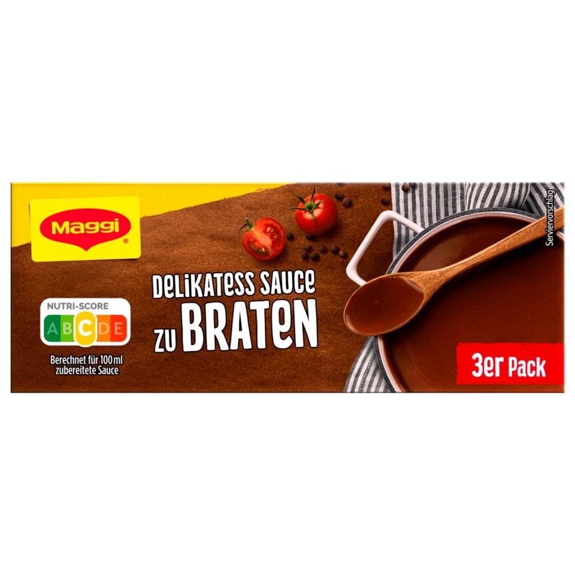 Maggi Delikatess Sauce zu Braten 3er Pack ergibt 3x250ml