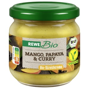 REWE Bio Aufstrich Mango-Papaya-Curry 180g
