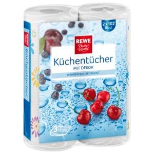REWE Beste Wahl Küchentücher mit Decor 2x102 Blatt