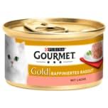 Purina Gourmet Gold Raffiniertes Ragout Lachs 85g