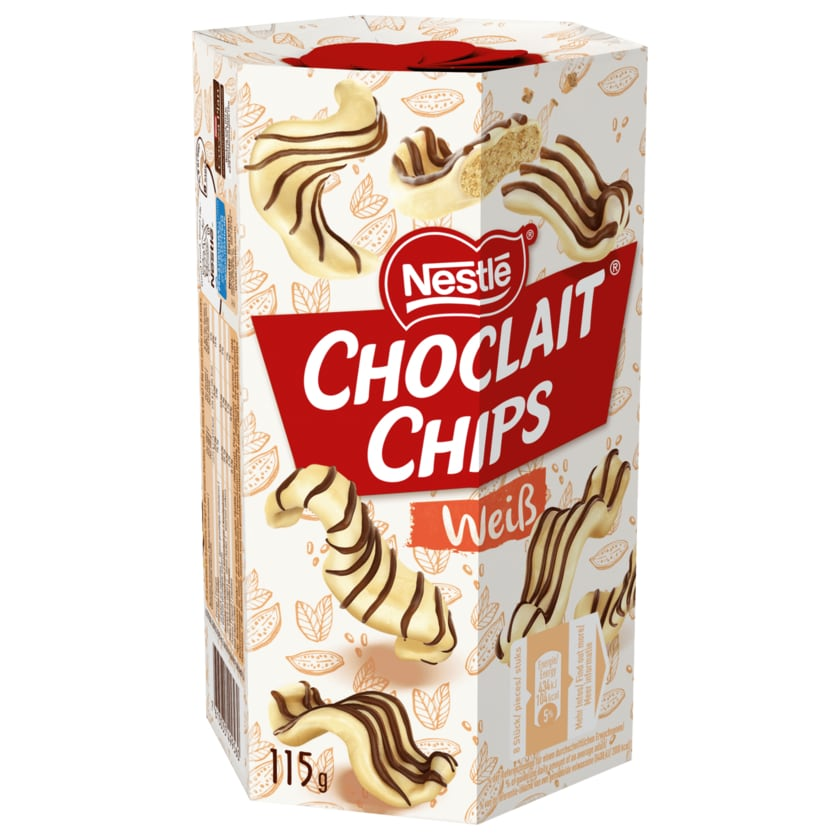 Nestlé Choclait Chips Weiß 115g